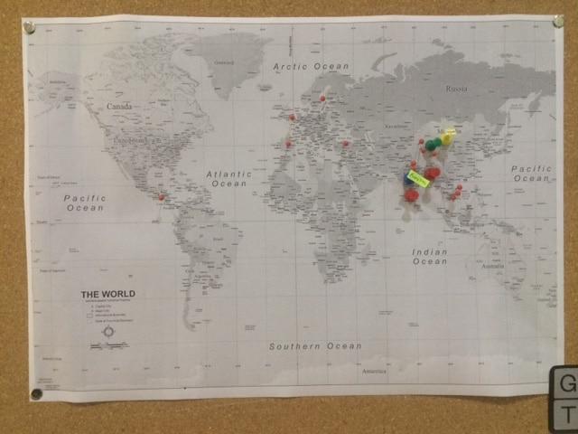 Green Gate world map